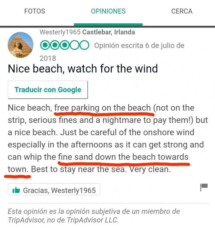 Parking beach estartit
